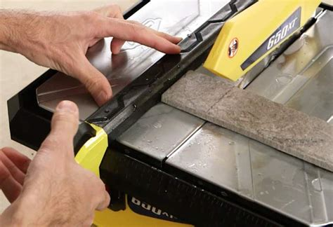 how to cut tile with a saw at the home depot