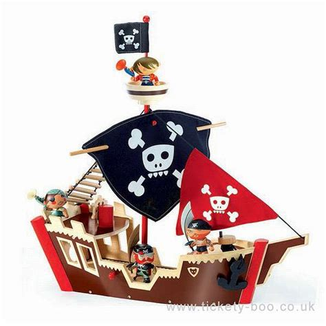 Pirate Boat Toy by Ze Pirate Boat Arty Toy By Djeco