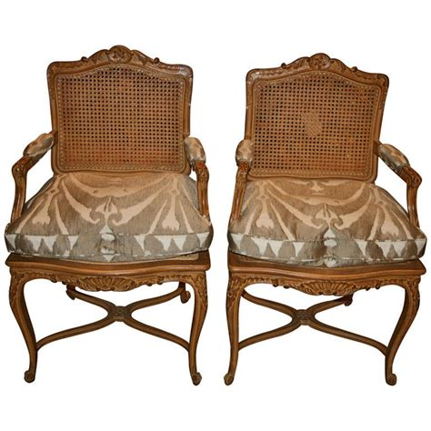 louis xv style oak fauteuils for sale at 1stdibs