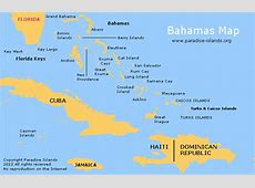 Bahamas Map Paradise Islands map of the Bahamas