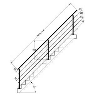 kit complet garde corps escalier l400 cm universo