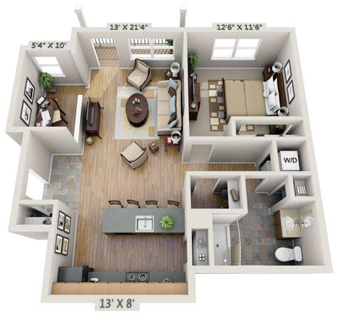 3d floor plan image 2 for the 1 bedroom studio floor plan two bedroom study 3d floor plan net zero