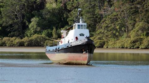 Tugboat Gross Tonnage by Tugboat Stranded In The Weiti River Stuff Co Nz