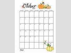 2018 October Calendar PDF, Excel, Word December 2018