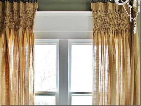 get the look smocked burlap curtains thistlewood farm