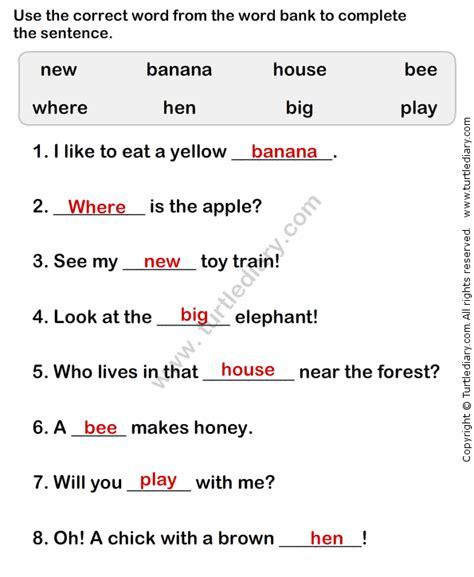 simple sentence worksheet5 esl efl worksheets grade 1