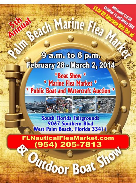 Palm Beach Boat Show Discount Tickets by Florida Marine And Nautical Flea Markets The 5th Annual