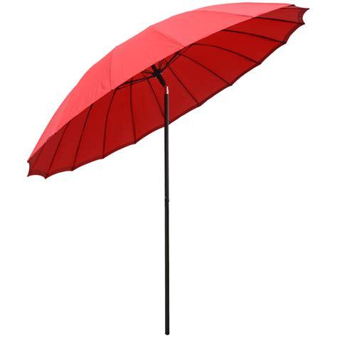new 2 5m tilting shanghai parasol umbrella sun shade for garden patio furniture ebay