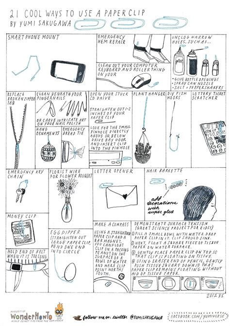 21 Cool Ways To Use A Paper Clip « The Secret Yumiverse Wonderhowto