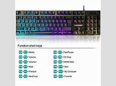 FLAGPOWER RGB Backlit Keyboard and Mouse Kit, Adjustable 3