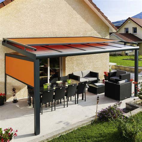 pergola terrasse toit fixe avec store skytop pergolas alu monsieur store