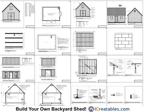 jakes shed plans 16x20 free