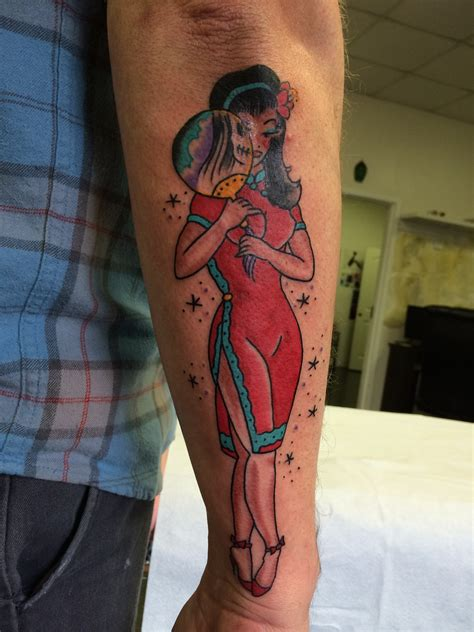traditional sailor jerry pin up