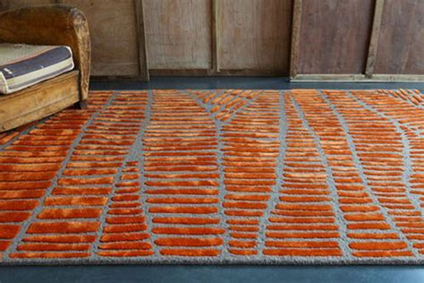 tapis orange et gris atlub
