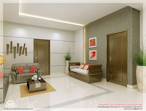 interior living room awesome 3d interior renderings kerala home design and
