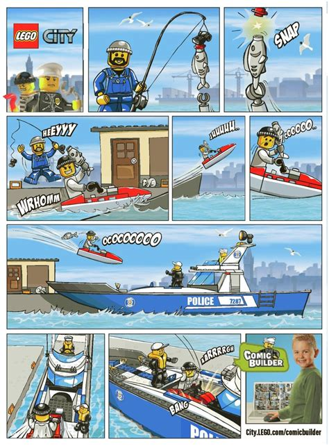 Lego City Police Boat Instructions by Lego Police Boat Instructions 7287 City