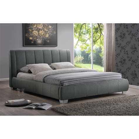 wholesale interiors baxton studio upholstered platform bed reviews wayfair