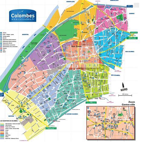 plan de colombes avec ses quartiers www lecolombesquejaime fr le seul de colombes d 233 clar 233