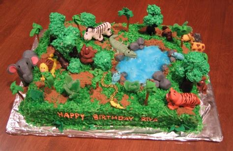 jungle cakes decoration ideas birthday cakes