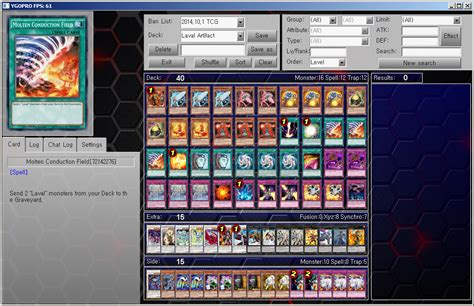 yu gi oh ygopro tcg deck laval artifact by ygopropro on deviantart