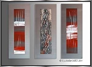 Bilder Auf Leinwand Kaufen : mk1 art bild leinwand abstrakt gem lde kunst malerei modern bilder grau rot xxl ebay ~ Markanthonyermac.com Haus und Dekorationen