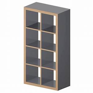 Ikea Kallax Zubehör : cad and bim object kallax etagere gray wood effect ikea ~ Markanthonyermac.com Haus und Dekorationen