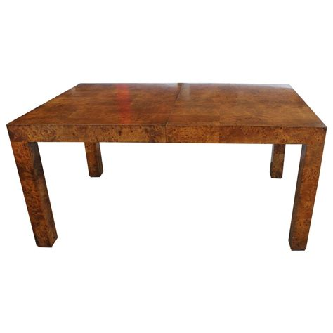 Parsons Style Burl Wood Dining Table By Milo Baughman For. Executive Desk Houston. Solarwinds Web Help Desk Review. Baxton Studio Desk. Tool Box Ball Bearing Drawer Slides. Welding Table Plans. Diner Table. How To Organize Cords Behind Desk. Front Desk Receptionist Salary