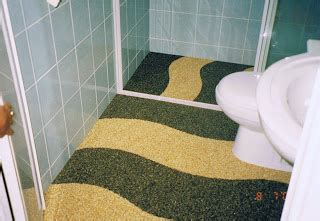 amazing bathroom floor with pebble epoxy pebble epoxy