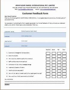 Customer Feedback Form Template | Microsoft Templates ...