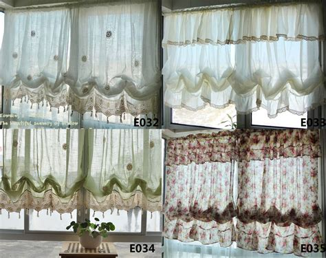 country white balloon shade pull up austrian cafe kitchen curtain ebay