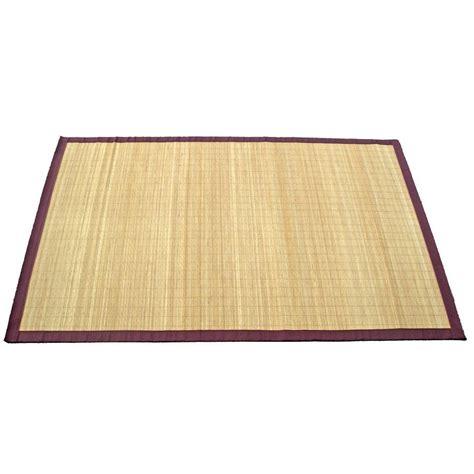 tapis bambou naturel 200x140 cm leroy merlin