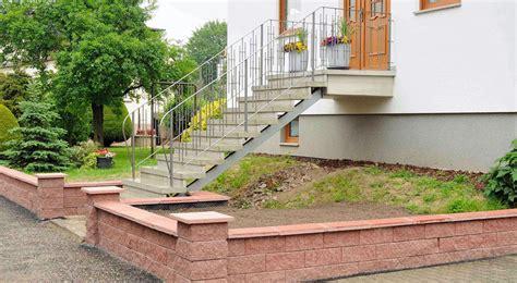 Stufen Aus Betonwerkstein  Wegener Betonstein In