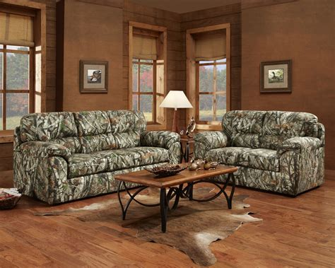 Mossy Oak Camouflage Sofa & Loveseat Hunting Lodge Living Pictures Of Bathroom Tile Ideas Remodeling Small Pinterest For Decorating A Remove Floor How To Install In Kids Tiles Design