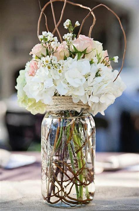fleurs mariage 55 id 233 es d 233 co de table et bouquet de mari 233 e table vintage pots en verre et