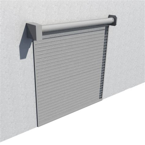 cad and bim object rideau metallique murax 110 microperfore galvanise la toulousaine