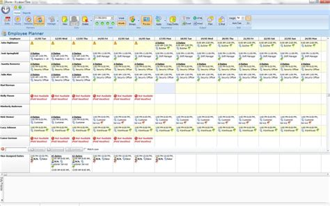 employee roster template retail the best free employee scheduling software