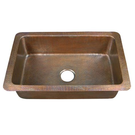 barclay 32 quot single bowl copper drop in kitchen sink at