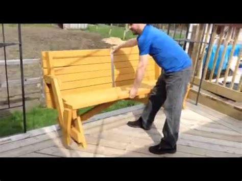 table 224 pique nique convertible en banc de parc
