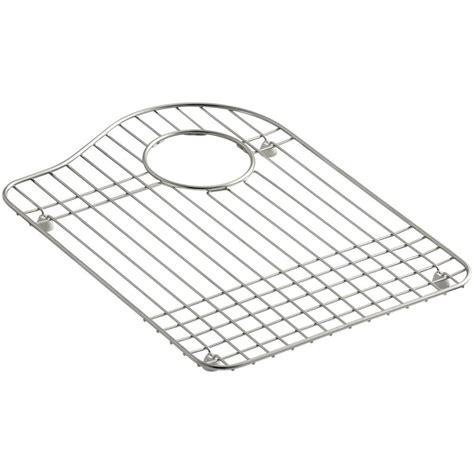 kohler hartland stainless steel bottom basin rack k 6016r st the home depot