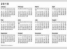 2019 Calendar Pdf 2018 calendar printable