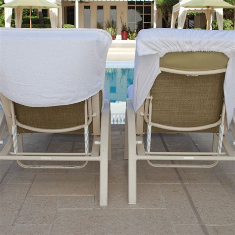lounge chair cover terry with fitted white lc8530c