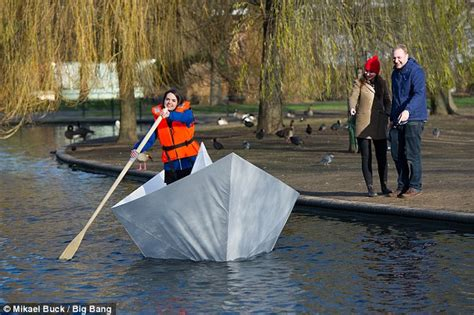 How To Make A Huge Paper Boat by Origami Boat Made From Paper Carries Adult Across Lake