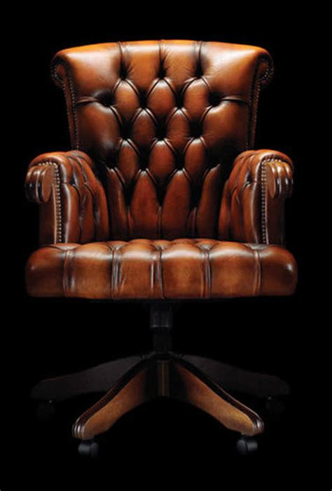 chaise de bureau chesterfield