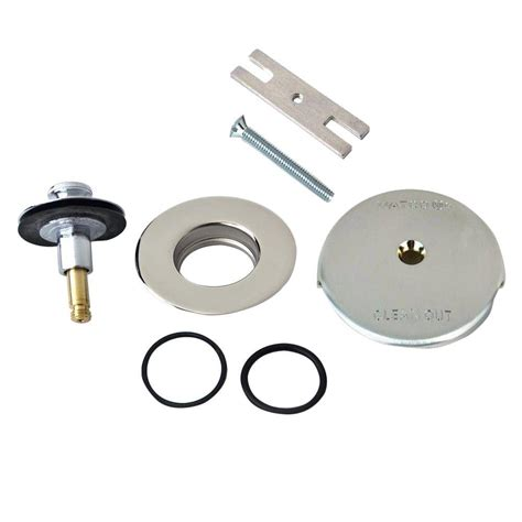 watco quicktrim lift and turn bathtub stopper and one