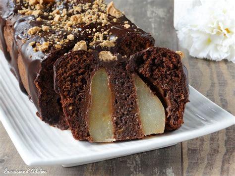 cake poires chocolat facile et gourmand la cuisine d adeline
