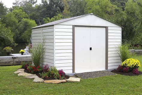 arrow vm1010 milford 10 x 10 vinyl coated steel storage shed