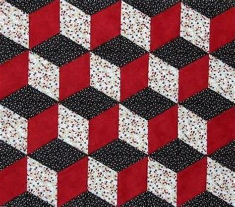 Tumbling Block Quilt Pattern Template by Tumbling Block Quilt Pattern Free Quilt Patterns