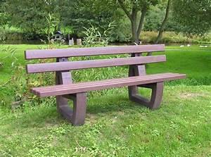 Parkbank Mit Tisch : kunststoff parkbank lodur mit r ckenlehne ~ Markanthonyermac.com Haus und Dekorationen