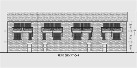 Fourplex Plan, 3 Story Town House, 3 Bedroom Townhouse, F-546 Decorative Sliding Doors Electric Door Wayne Dalton Garage Parts Residential Entry Glass Curtains Home Depot Cost To Replace
