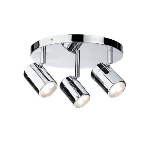 plafonnier salle de bain paulmann lyra ip44 3x3 5w 230v gu10 chrome